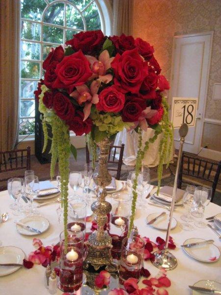 blomsterdekoration rød