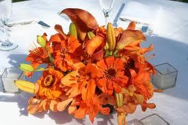borddekoration orange