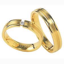 Forlovelsesringe og vielsesringe guld