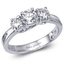 Forlovelsesring med diamanter