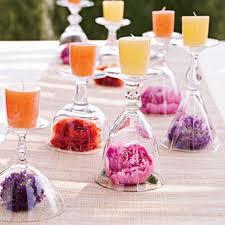 Glas lys og blomster