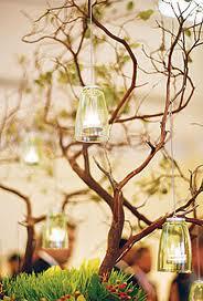 Grene med fyrfadslamper